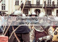 Finanzieller und psychologischer Support der Community dank Crowdfunding