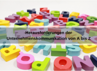 Herausforderungen von Corporate Communications in alphabetischer Reihenfolge (geralt / pixabay)