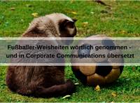 Fussballer-Phrasen-Content wörtlich genommen und auf Corporate Communications übertragen (Alexas_Fotos / Pixabay)