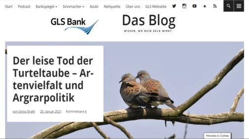 Best Practices von Corporate Blogs in Deutschland: Blog der GLS Bank.