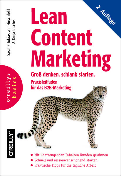 Cover von Lean Content Marketing: Groß denken, schlank starten (O'Reilly)