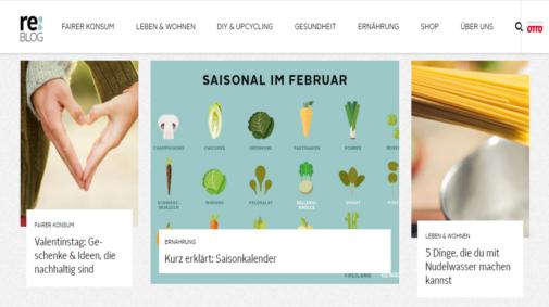 Best Practices von Corporate Blogs in Deutschland: reBLOG von Otto.