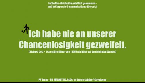 Fussballer Phrasen Content In Unternehmen 11 Freunde Müsst