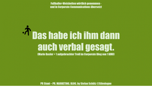 Fussballer-Phrasen-Content (Stefan Schütz / PR Stunt)