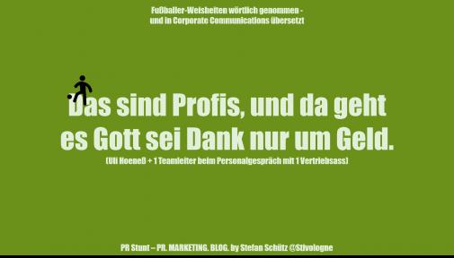 Fussballer-Phrasen-Content (Stefan Schütz / PR-Stunt)