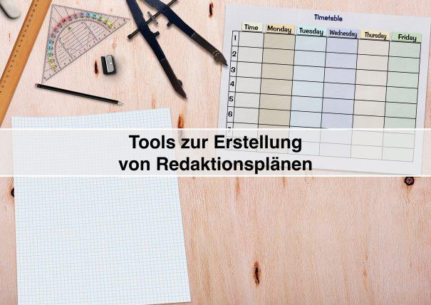 Redaktionsplan-Tools zur individuellen Erstellung einer Content-Strategie (darkmoon1968 / pixabay)