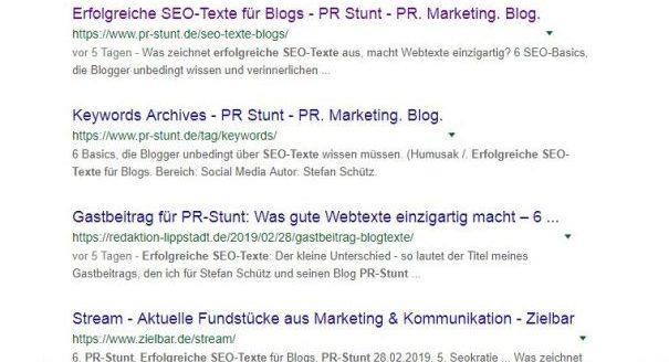 Snippets zur Optimierung erfolgreicher SEO-Texte (Stefan Schütz)