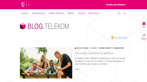 Best Practices von Corporate Blogs in Deutschland: Telekom-Blog.