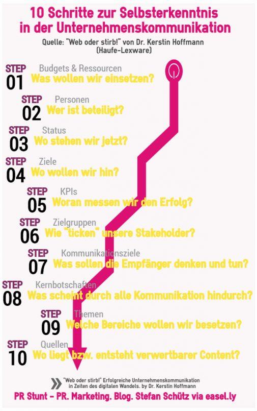Web oder stirb: 10 Schritte zur Selbsterkenntnis in der Unternehmenskommunikation (Stefan Schütz / PR Stunt)