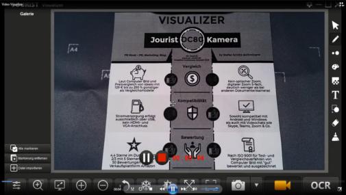 Video-Tutorial zur Software der Dokumentenkamera Jourist DC80 (Stefan Schütz / PR Stunt)