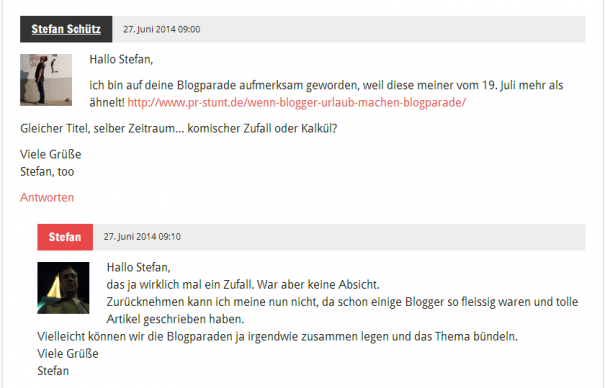 Doppelte Blogparade